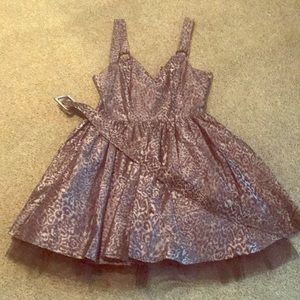 Betsey Johnson Black Leopard dress